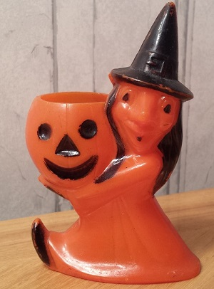 Rosbro Plastics Halloween Witch Candy Container